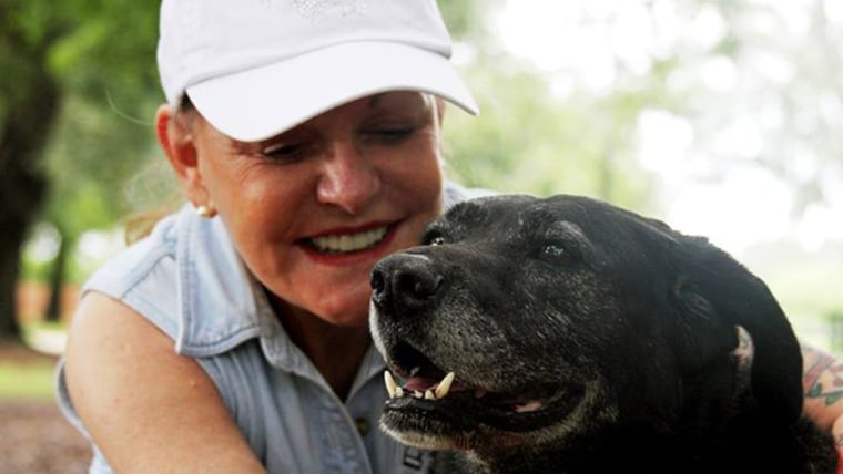 Helen Rich, an heir to the Wrigley fortune, pals around with her new friend, Lady, at her home in Florida. Photos courtesy of On the Wings of Angels.