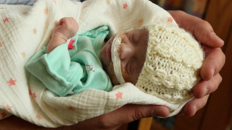 Heidi Van Kirk with baby Alexandra, known as Sasha