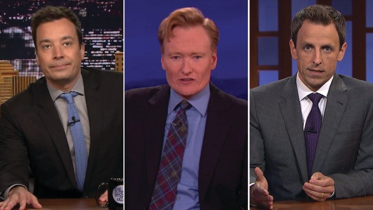 Image: Jimmy Fallon, Conan O'Brien, Seth Meyers