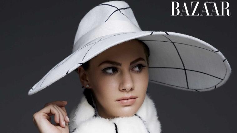 Audrey Hepburn's granddaughter, Emma Ferrer, graces the cover of Harper's BAZAAR for the September 2014 issue.