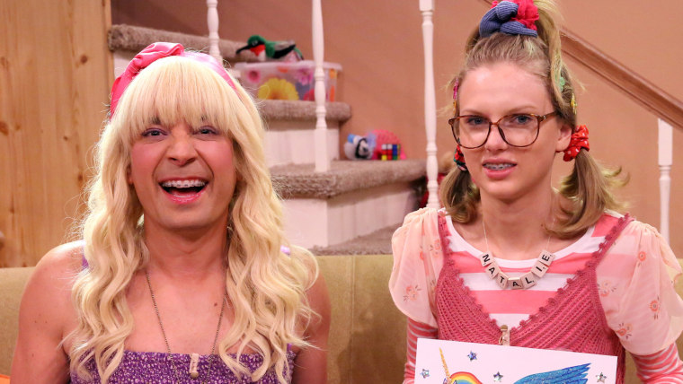 Image: Jimmy Fallon and Taylor Swift