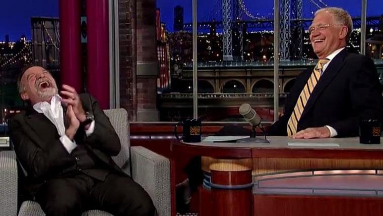 Image: David Letterman and Robin Williams