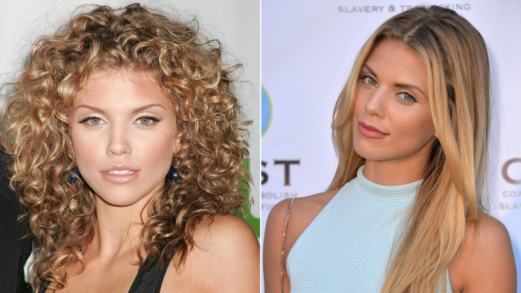 Even Annalynne McCord couldn't resist the pull of the straightener.