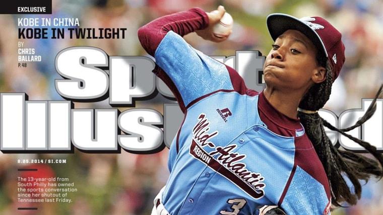 Image: Mo'ne Davis on the cover of Sports Illustrated magazine