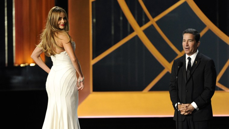 Sofia Vergara and Television Academy CEO Bruce Rosenblum