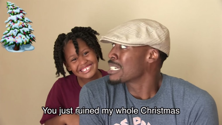 Kaylee and Dion Lacking rap together in an amazing family holiday video.