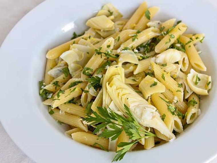 Gremolata Pasta with Artichoke Hearts