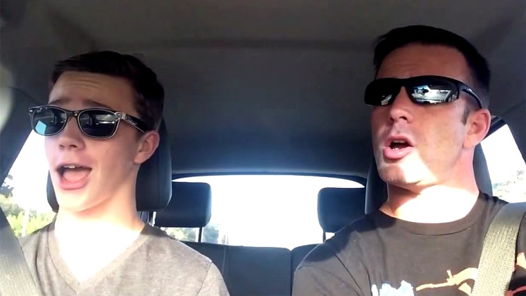 Sean and Chris O'Malley lip-sync to Taylor Swift in a family video