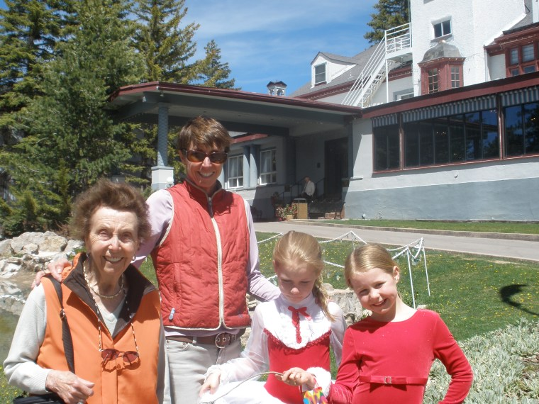 Sarah Crewe, her children and mother, Doreen, on Mother's Day, 2010.