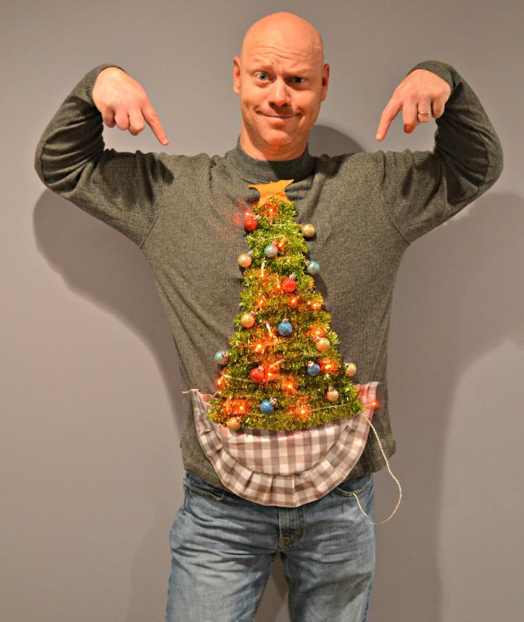 Diy Christmas Tree Sweater
