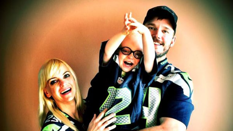 Chris Pratt, Anna Faris and Jack