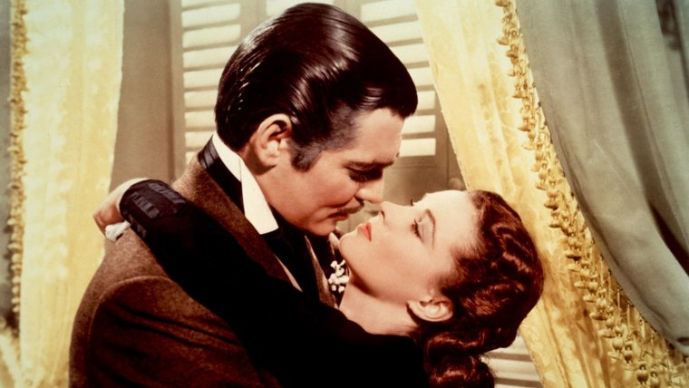 """Scarlett O'Hara (Vivien Leigh) does fall for Rhett Butler (Clark Gable) in """"Gone With the Wind,"""" but alas, it cannot last."""