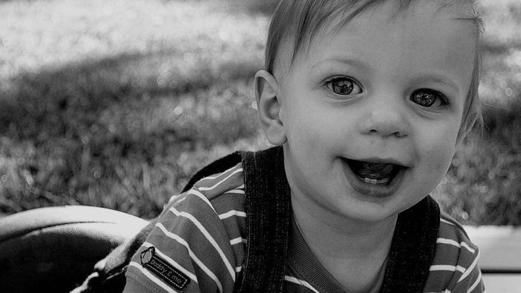 Cameron Beck died at age 11 months after a car accident. His car seat was not properly fastened.