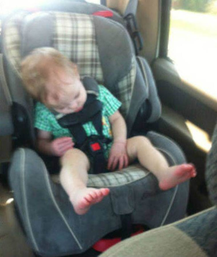 n this photo found after her son's death, Wagner says she discovered that her son was not properly secured in the car seat.