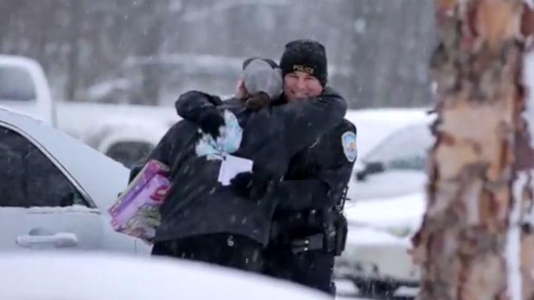 Cop presents