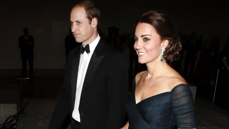 Britain's Prince William, the Duke of Cambridge, and Kate, Duchess of Cambridge, attend the St. Andrews 600th Anniversary Dinner at the Metropolitan M...