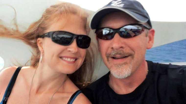Sarah Bajc and her boyfriend, Philip Wood, who was a passenger on missing flight MH370.