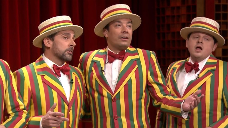 Jimmy Fallon, Steve Carell deliver 'Sexual Healing' with Marvin Gaye classic on 'Tonight'