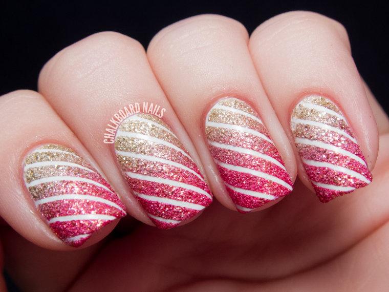 Candy Cane Stripes 3d Christmas Tree Nail Art: Easy Christmas Nail Art: From Santa Hats To Snowmen