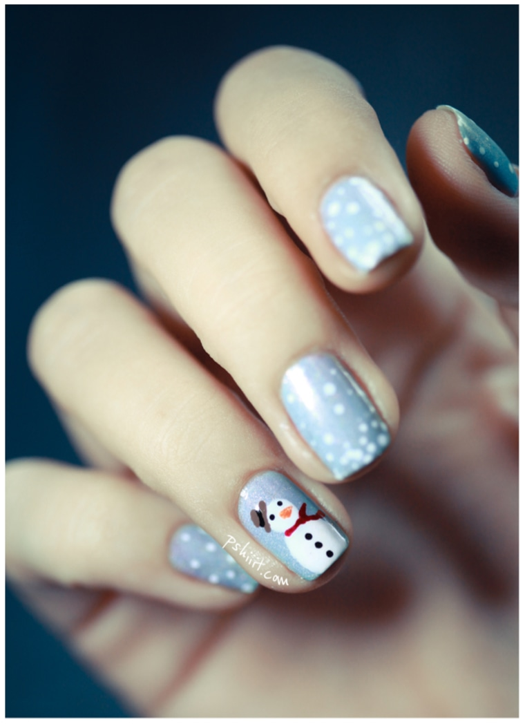 Snowman Nail Art TODAY