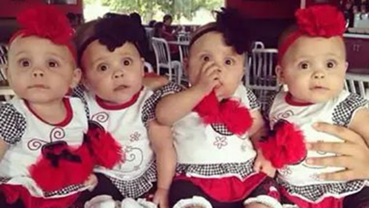 Mother Of Surprise Quadruplets Calls Herself Luckiest Mom In The