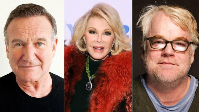 Image: Robin Williams, Joan Rivers, Philip Seymour Hoffman