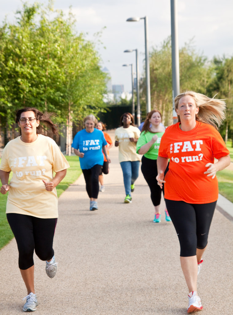 Julie Creffield, creator of The Fat Girls' Guide To Running, told TODAY.com she wants to inspire people who are overweight to live healthier lifestyle...