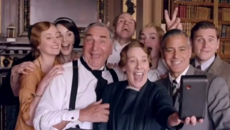 """George Clooney and the """"Downton Abbey"""" cast"""
