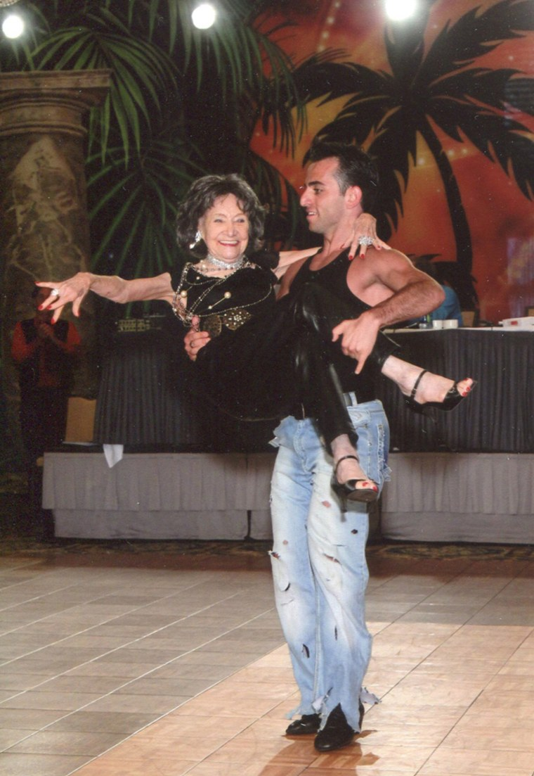 TTao Porchon-Lynch dancing with Vard Margaryn.