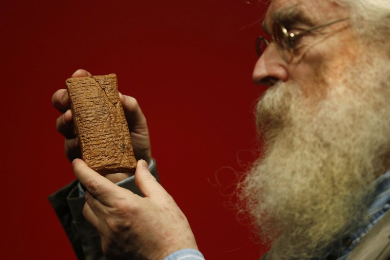 Image: Irving Finkel with tablet