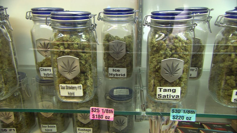 In the first month of operation, sellers of recreational marijuana are doing brisk business in Colorado. One seller said she averages about $20,000 a day in sales.