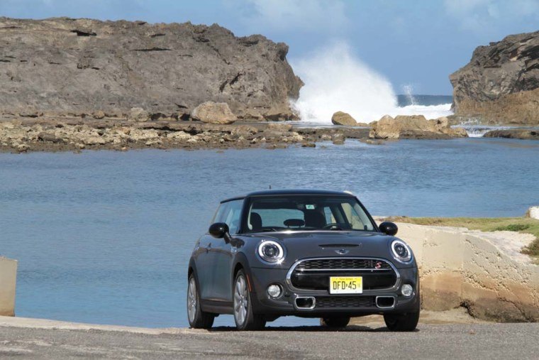 The 2015 Mini Cooper S is seen here in Puerto Rico on its first drive Jan. 30, 2014.