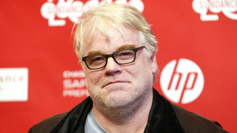 """Philip Seymour Hoffman at the premiere of """"A Most Wanted Man"""" on Jan. 19."""