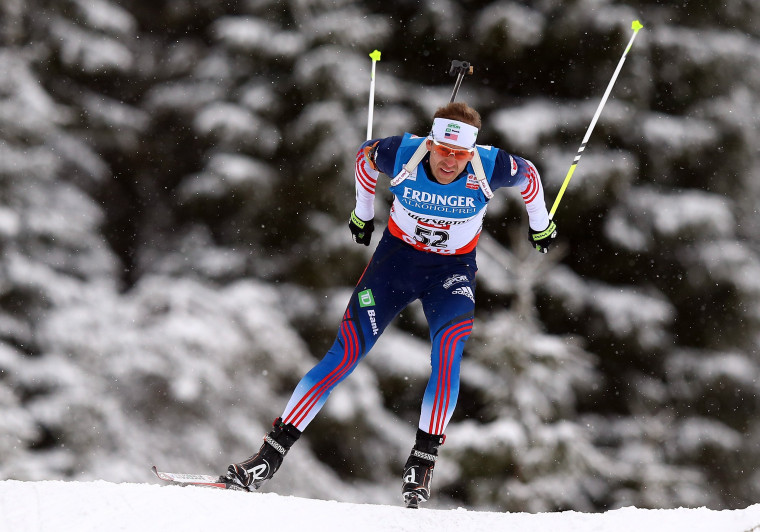 U.S. biathlete Lowell Bailey competes during the IBU Biathlon World Cup in Hochfilzen, Austria, in December.