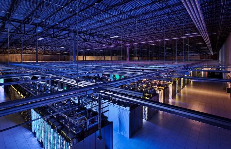 Image: A Google data center in Hamina, Finland.