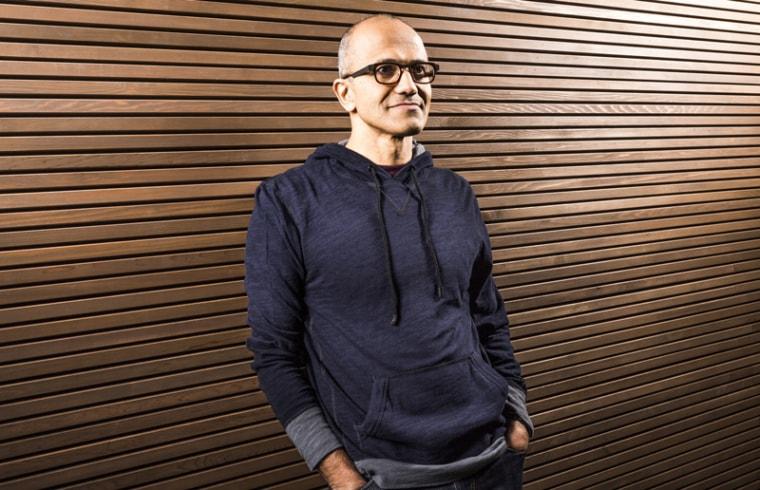 Microsoft names Satya Nadella as the third CEO in the company's 39-year history.