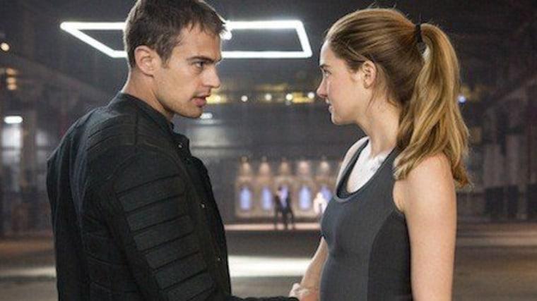 'Divergent' stars ride zipline onto stage to show off movie trailer