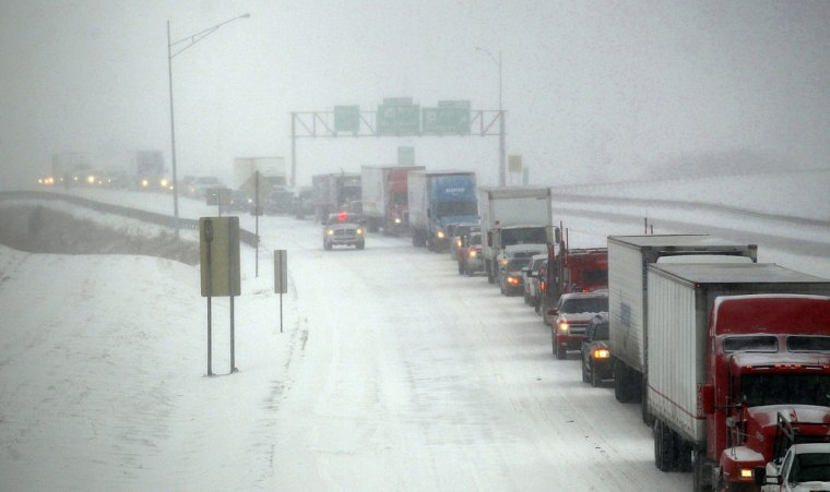 Severe winter weather has stalled some pockets of the economy like vehicles stuck in a snowstorm.