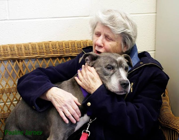 Sister Virginia Johnson and Remy the dog