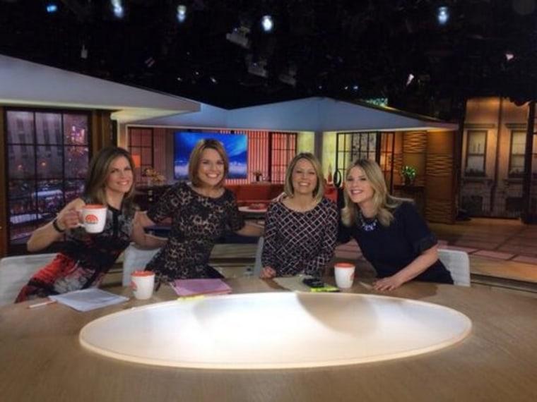 All-female TODAY anchor desk: Natalie Morales, Savannah Guthrie, Dylan Dreyer, Jenna Bush Hager.
