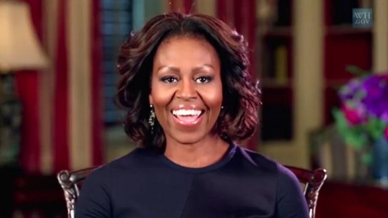 Michelle Obama 'I'm First' video