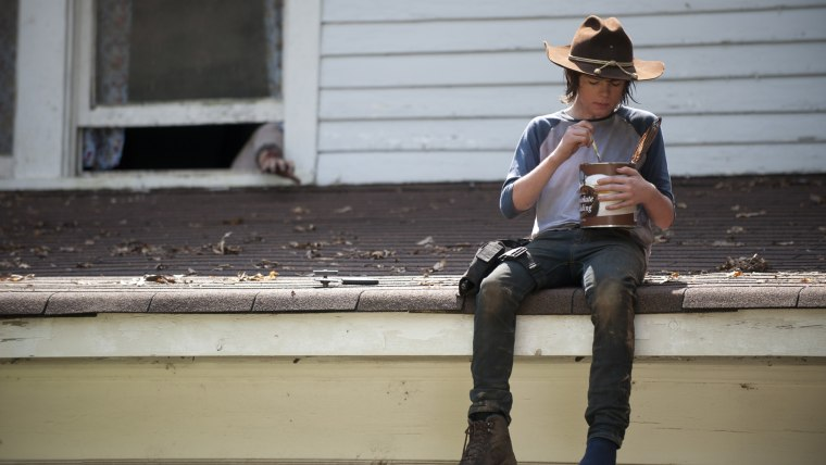 "Image: Carl on ""Walking Dead"""