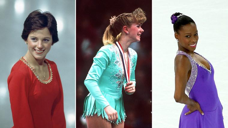 Dorothy Hamill 1976, Tonya Harding 1991, Vanessa James 2014