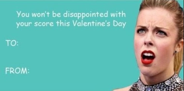 Ashley Wagner, star of her own meme, Instagrammed this Valentine's Day card.