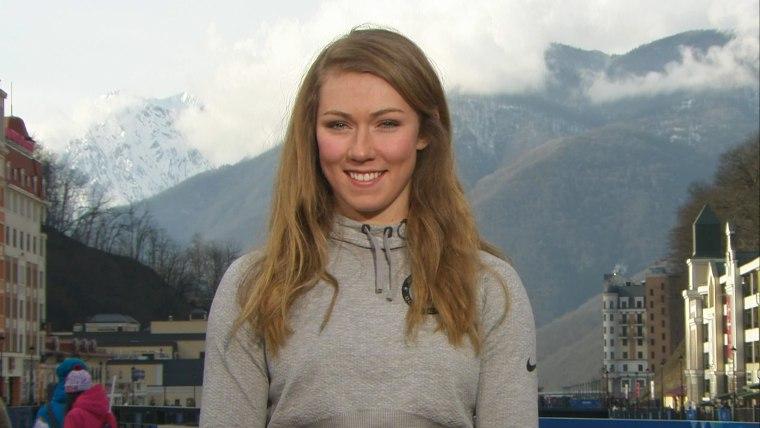 U.S. Olympic skier Mikaela Shiffrin on TODAY.