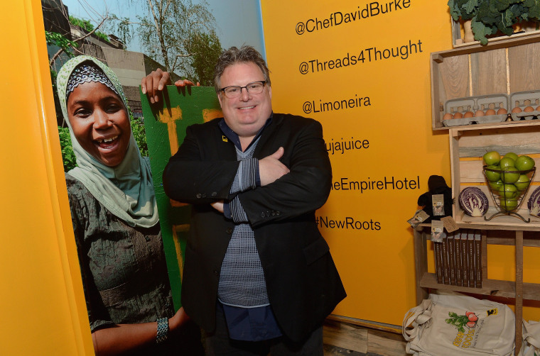 Chef David Burke gives back at IRC's First Ever 'New Roots' Pop-Up During New York Fashion Week at the Empire Hotel.