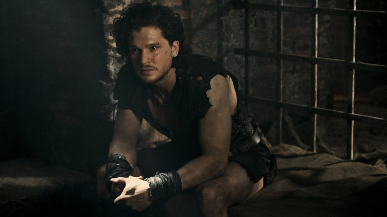 From Game Of Thrones To Pompeii Kit Harington Swings Mighty Sword