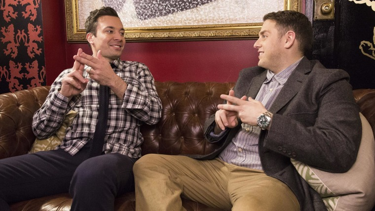 Jimmy Fallon revives hashtag chat with Jonah Hill and Martin Scorsese