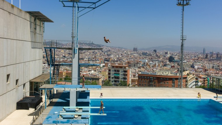 Barcelona has been heralded as a city that used the Olympics to its advantage. Used for both the diving and water polo events during the 1992 Olympics, the pool is now open to the public during the summer months. Kylie Minogue used the pool as a music video setting.