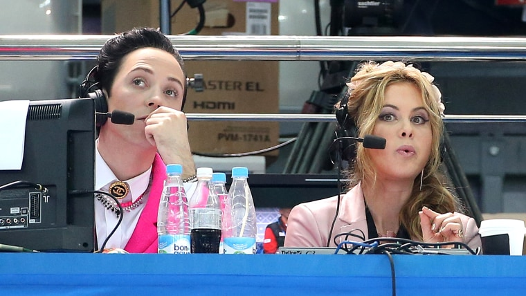 Johnny Weir and Tara Lipinski, who provided commentary for NBC's figure skating coverage, will give Oscar red carpet critiques for Access Hollywood.